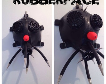 Clown Custom Gas Mask by Rubberface