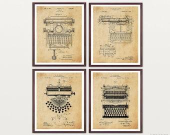Typewriter Patent Art - Typewriter Art - Typewriter Poster - Literary Art - Writer - Novel - Book - Book Art - Vintage Typewriter - Words