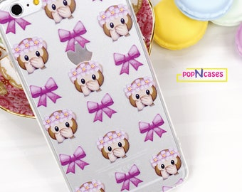 Happy Emoji Monkey Pink Bow Pretty iPhone case for iPhone 6/6s and 6 plus