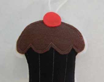 Double Chocolate Cupcake Ornament