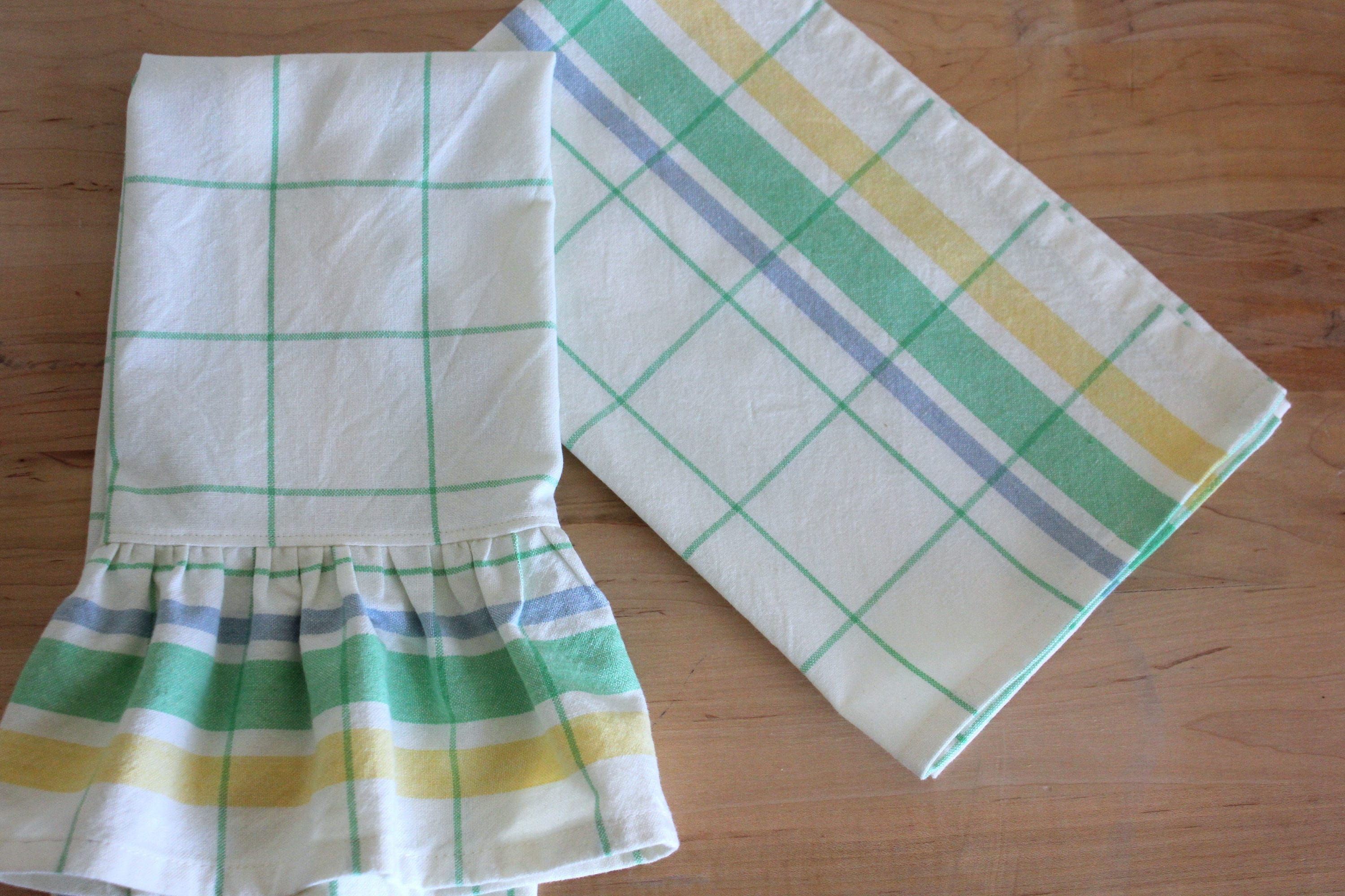 Free Shipping Tea Towel Ruffled Tea Towel Kitchen Towel