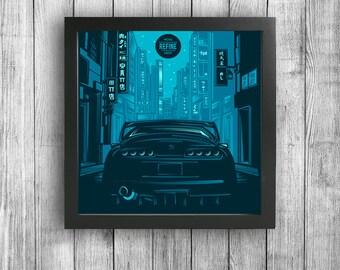 Japanese Street Car Classic - Toyota Supra Print