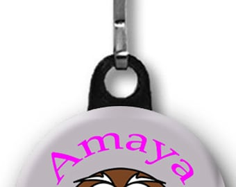 Zipper Pull One Personalized Owl