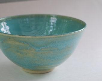 Handmade pottery bowl. Medium sized pottery bowl.