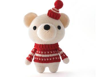 Pjotr the Polar Bear Amigurumi crochet pattern