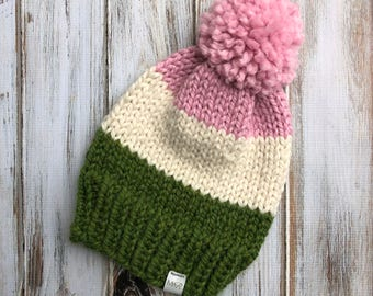 Adult Color Block Beanie