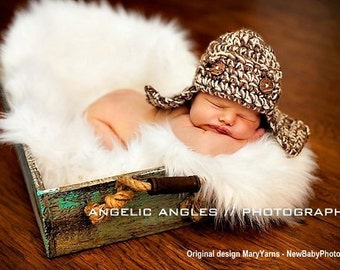 Lumberjack Hat Newborn Baby Photo prop in BROWNS - Photography all babies Hat Infant Girl Boy Photo shoot Newborns The Perfect GIFT