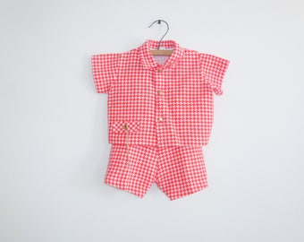 Vintage Red Houndstooth Outfit