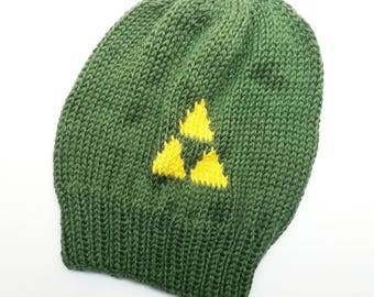 Triforce Slouch Hat - Legend of Zelda Breath of the Wild Knit Slouch Hat - Nerd Gift - LoZ Slouch Hat - Gift for Him / Her -  Knit Hat