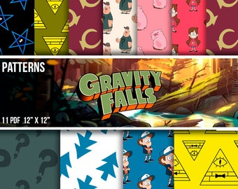 Gravity Falls, OFFER 90% Off SALE!! Awesome Gravity Falls Digital Paper Pack