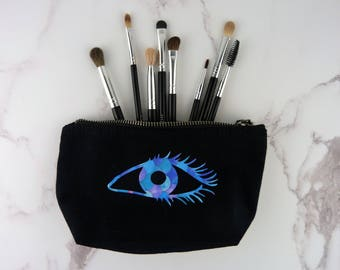 Small make up bag, small cosmetic bag, make up brush bag