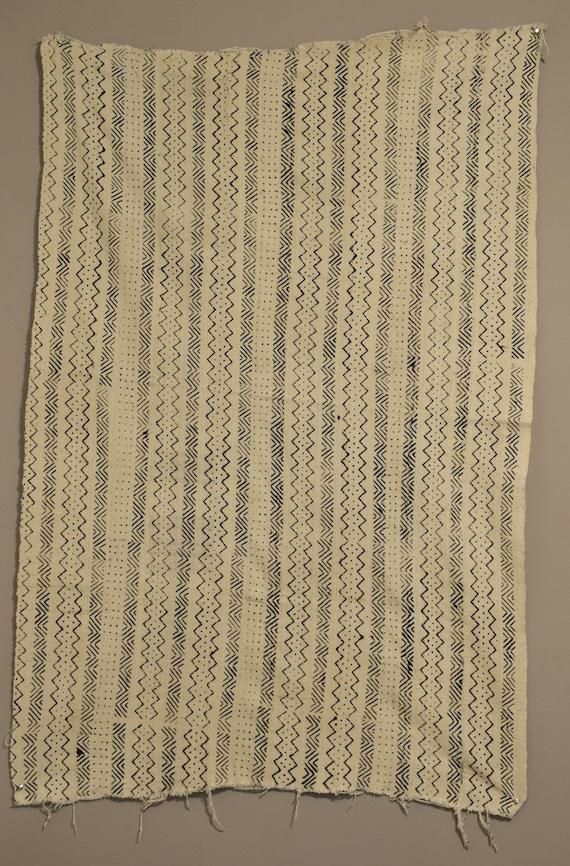 "African Mudcloth Black White Patten Dogon Cloth Fabric Black White Mudcloth 58"""