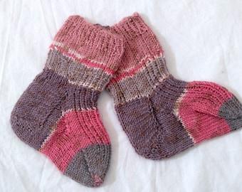 Babies Socks 100% Bamboo Wool Hand Knitted