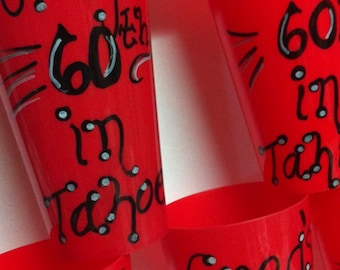 30th 40th 50th 60th Birthday Personalized Party Cups