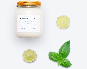 Fresh Scented Candle — Hopscotch Candle — Home Decor Soy Candle — Perfect Gift for Her, Wedding Gift, Gift for Mum or Thank You Gift