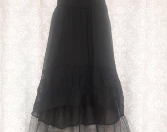 Simple Black Lace Opera Dress