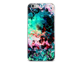 Neon Texture Swirl Phone Case, iPhone Case, Samsung Galaxy Case, Cool Phone Cases, Print Phone Case, Made to Order