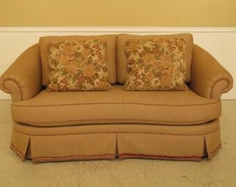 45207EC: ETHAN ALLEN Upholstered Beige Sofa Loveseat