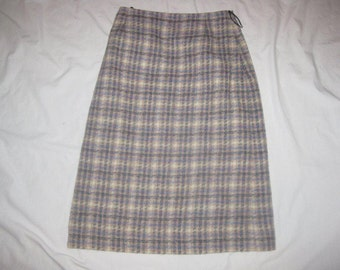 Vintage-TREFRIW-26-W-Pure-Wool-Skirt-EXCELLENT