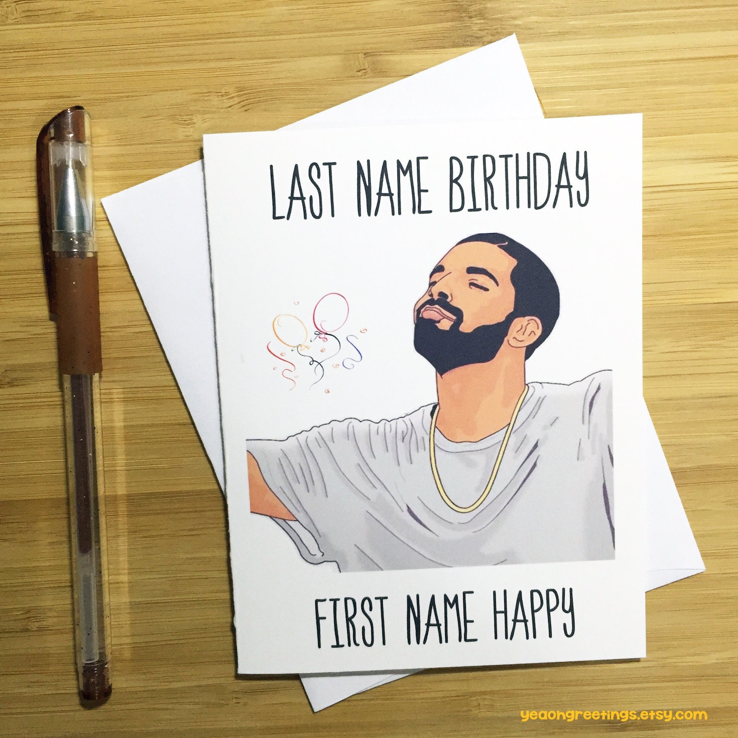 Last name birthday first name happy birthday card funny zoom kristyandbryce Gallery
