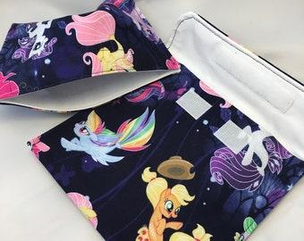 My Little Pony Mermaids Reusable Sandwich Bag, Reusable Snack Bag