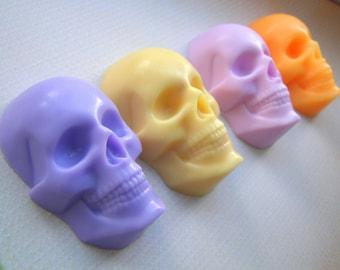 2d Skull Mold Small Skull Soap Mold 2d Skull Mold Day of the Dead Mold Isomalt Skull Skeleton Head mold Halloween party Favors Mold