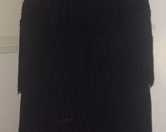 Side Zip Vintage Western Fringe Pencil Skirt 1950s 1940s