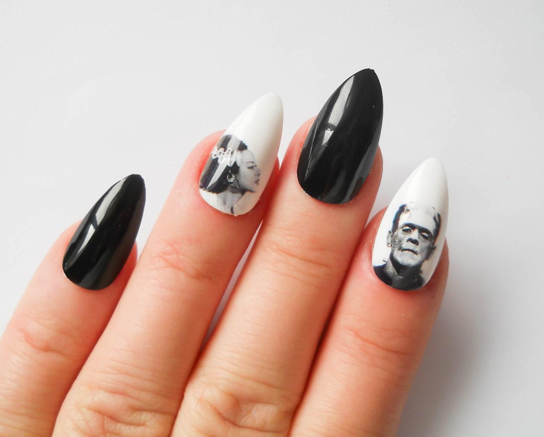 Frankenstein Stiletto Nails, Fake Nails, Frankenstein, Bride of ...