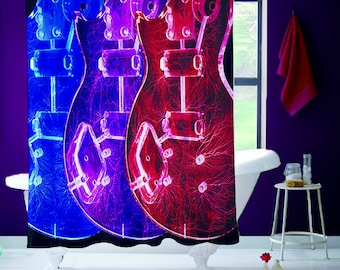 Guitars Shower Curtain