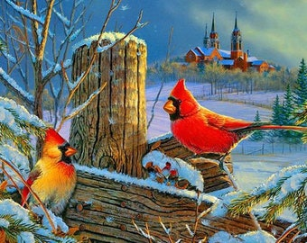 Winter Cardinals  Cross Stitch Pattern***LOOK***