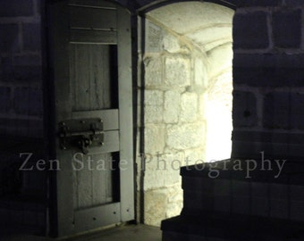 Door Photography. Night Photo Print. Dark Art. Ghost Tour Photograph. Fort Henry Photo Print. Unframed Print, Framed Print, Canvas Photo.