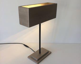 modern table lamp, modern desk lamp, bedroom lamp, bedside lamp, contemporary lamp, stylish lamp, bronze lamp, office lamp, gift for man