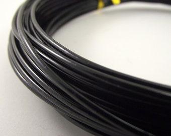 Black Aluminum Wire, 12 gauge, 45 foot coil