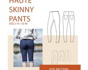 Pants sewing pattern for women   pants pattern woman PDF   pants sewing patterns  trouser pattern, trouser sewing patterns for women