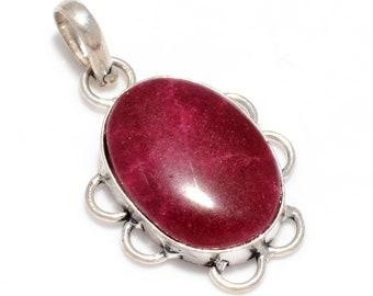 Beautiful Ruby 925 Silver Pendant