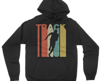 Retro 1970's Style Track Relay Race Runner Hoodie