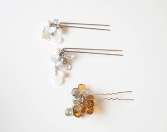 Japanese Hair Ornaments With Dangle Elements Set Of Three