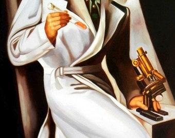 Homage of Tamara de Lempicka-Dr. Boucard d94865 60 x 90 cm exquisite image