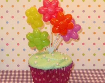 Flower Balloon Picks  (Set of 3)   DISCONTINUED