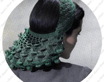INSTANT DOWNLOAD PDF Vintage Crochet Pattern for the 1944 Pedal Snood