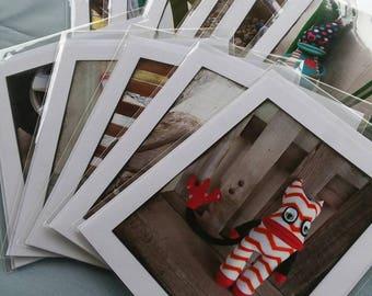 Sock Monster Cards, Set of 11