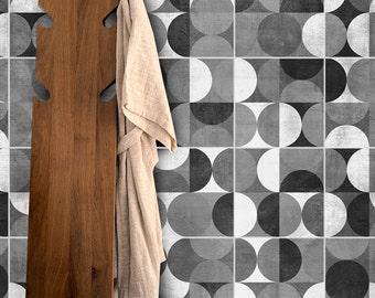 SplashBack - Tile Stickers - Mid Century - Tiles Decals - Kitchen SplashBack - Wall Tiles - Decorative Tiles - PACK of 32 - SKU:MCR