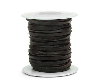 Chocolate Deerskin Lacing - (1) 50 foot spool, 1/8th inch lace.  Deerskin lace (297-18x50CH)