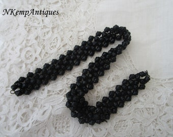 French jet beads 1910 for re-purpose