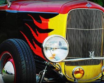 Garage Art - Automotive Art - Antique Ford - 1931 Ford Hotrod - Classic Car - Pop Art - Fine Art Photograph by Kelly Warren