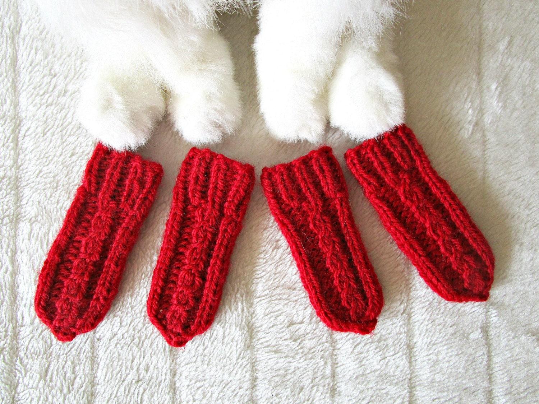 Fabuleux Tricotés à la main chats chaussettes pour chiens chat chien QF89