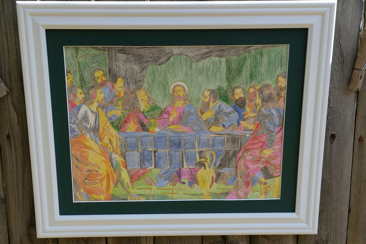11 x 16 framed picture the last supper 11 x 16 framed zoom jeuxipadfo Gallery