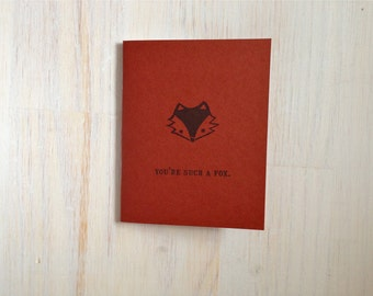 Medium Notebook: You're Such a Fox, Fox, Foxy, Red, Blank Journal, Wedding, Favor, Journal, Blank, Unlined, Unique, Gift, Notebook, E1/254