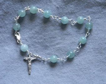 Handmade Sterling Silver Rosary Bracelets
