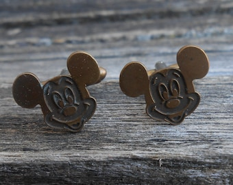 Vintage Mickey Mouse Cufflinks. Gift For Groomsmen, Groom, Dad, Wedding, Anniversary, Christmas, Birthday, Father's Day.